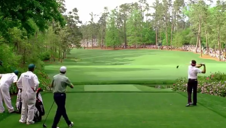 Plan the first major golf at Augusta